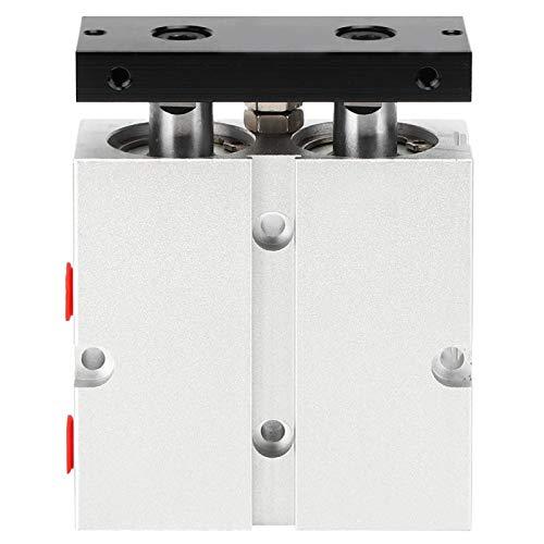Fafeicy Cilindro de aire, cilindro neumático, cilindro de aire de doble acción, cilindro de riel guía(TN25X30)