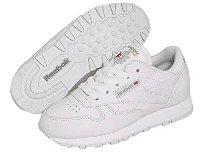 Reebok Kids Classic Leather (Little Kid) (White) Kids Shoes