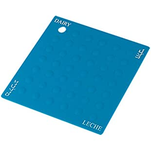 Customer reviews Dairy Blue Silicone Potholder Trivet For Carrying and Placing Pots and Pans - Heat Resistant Table and Counter Protectors - Color Coded Kitchen Tools by The Kosher Cook:Eventmanager
