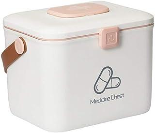 XZHMYYH Medicine box Medicine storage box storage box home medicine cabinet standing drug emergency medical kits emergency medical visits box (Color : White, Size : Big)