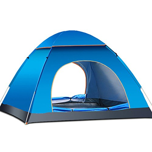 TINKSKY 3-4 Person Beach Sun Shelter Camping Tent: Fast and Automatic for Best Family Camping, Fishing, Hiking or Outdoor Picnic (Blue)