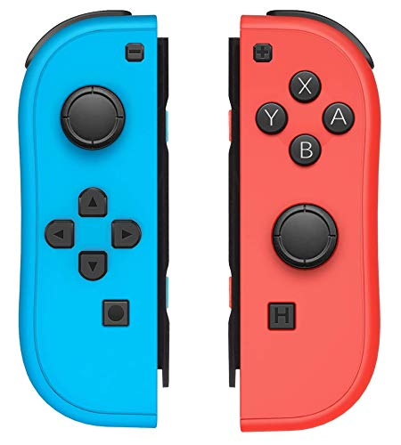 Wireless Joy Con Controller for Nintendo Switch, L/R Switch Controller Replacement, Remote Controller Gamepad Joystick for Nintendo Switch Console - Red and Blue (L/R Controller)