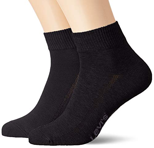 Levi's Unisex Mid Cut Socken, Jet Black, 43/46