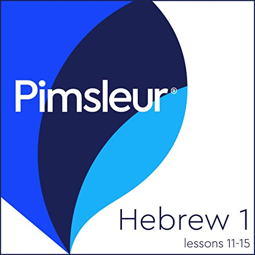 Pimsleur Hebrew Level 1, Lessons 11-15 audiobook cover art