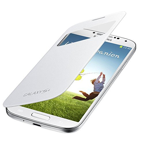 Samsung Original EF-CI950BWEGWW Flip Cover (kompatibel mit Galaxy S4) in weiß