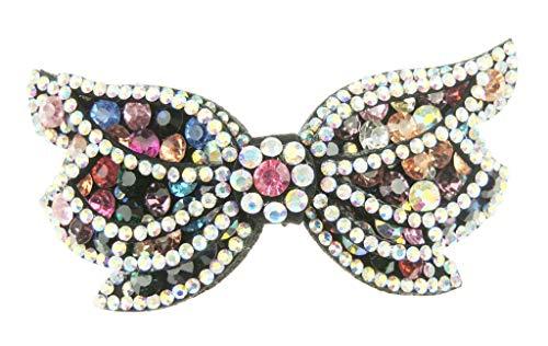 Glamour Girlz Barrette à cheveux en forme de papillon incrusté de strass (multicolore)