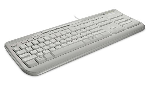 Microsoft Wired Keyboard 600 (Tastatur kabelgebunden, weiss, deutsches QWERTZ Tastaturlayout)