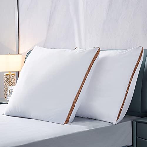 IMISSYUO 2er Set Luxus Kopfkissen, Hotelkissen 80 x 80 cm, Mikrofaser Kopfkissen , Allergiker Schlafkissen,Waschbar