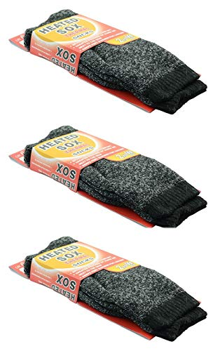 3 Pairs Men Heated Sox Thermal Winter Heavy Duty Crew Socks Mega...