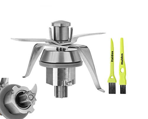 Italdos Messer kompatibel mit Vorwerk Thermomix Bimby TM21 TM 21 Mixmesser inkl Dichtung Edelstahl Thermomix Zubehör mit bürsten