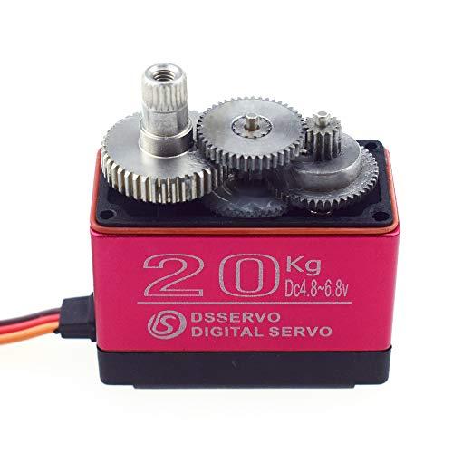 ZOSKAY DS3218PRO 6V 20kg / 0.09S Hochgeschwindigkeits-Servo Wasserdichtes High-Torque-Metallgetriebe Standard-Digital-Servo für 1/8 1/10 RC-Autos (Control Angle 180)