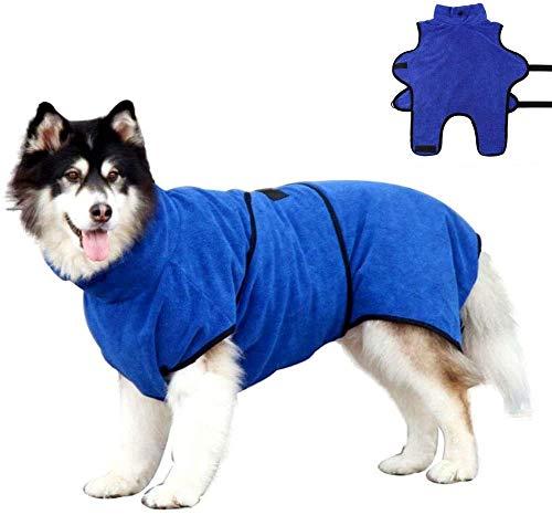 OWBB Hundebadetuch extra saugfahig, Hund Bademantel, Katze schnell trocknendes Badetuch, Haustier Mantel mit verstellbaren Trägern