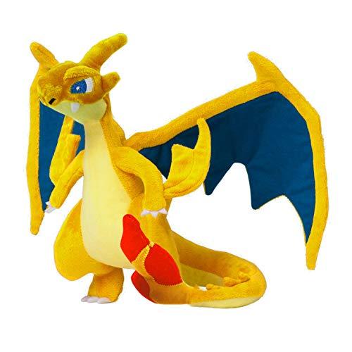 Zinessa Stuffed & Plush Charizard – 10in Pikachu Mega Charizard Y Plush Toy Animal Soft Stuffed Doll Dragon for Children Gift 1 PCs