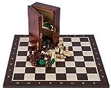 Square - Profesional Ajedrez de Madera Nº 6 - WENGE - Tablero de ajedrez + Figuras - Staunton 6