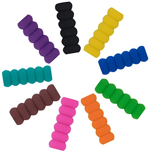 20-Pack Soft Foam Pencil Grips, Pen Grippers for Diamond Painting Pens Drill Pen, Pencil Cushion for Handwriting Drawing Writing Kids Toddlers Adults Arthritis, Soft Cushioned Foam, Random Colors