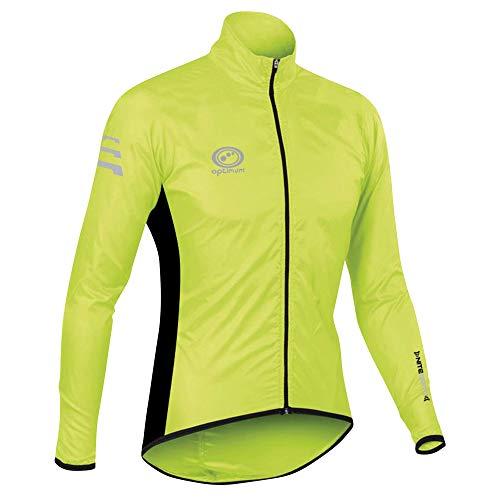 Optimum Men's Nitebrite Cycling Rain Jacket, Green, Large