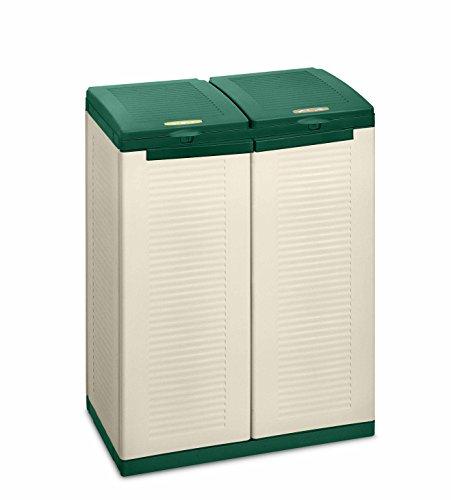 Terry 9714402 Ecocab Contenitori, Verde, 68x39x88,7 cm