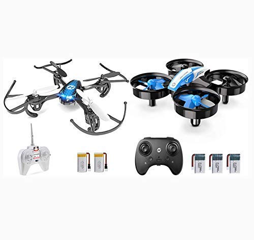 Holy Stone Mini Drone Set HS170 and HS210 Blue, with Altiude Hold Headless Mode