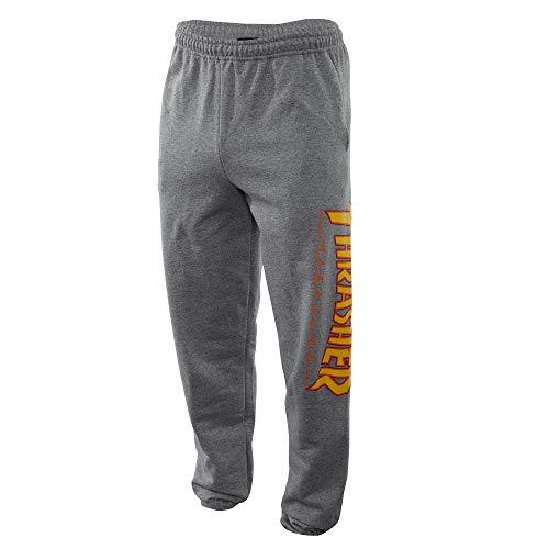 THRASHER Flame Grey Sweatpants (L)