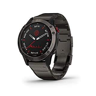 Garmin fenix 6 Pro Solar, Solar-Powered Multisport GPS Watch, Advanced Training Features and Data, Titanium (B089YWTHH5) | Amazon price tracker / tracking, Amazon price history charts, Amazon price watches, Amazon price drop alerts