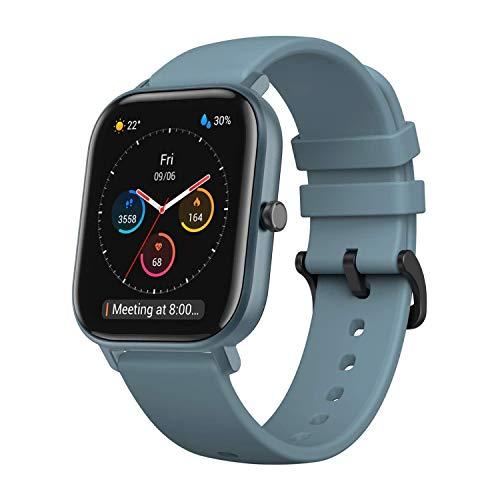 Amazfit GTS Smartwatch Fitness tracker con multitud de perfiles de actividad físcia y con GPS embebido, resistencia al agua 5 ATM (Azul)