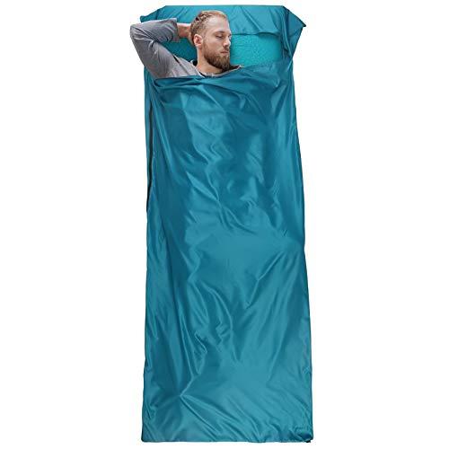 Bessport XL Hüttenschlafsack - Sommer Schlafsack Innenschlafsack Inlett Inlay, Leichter Komfort Reiseschlafsack. Ideal für Hostels, Camping und Outdoor Aktivität