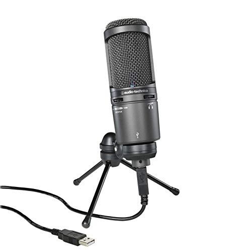 audio-technica USB マイクロホン AT2020USB+ テレワーク/在宅勤務/生放送 / 録音 / ポッドキャスト / 実況 ブラック