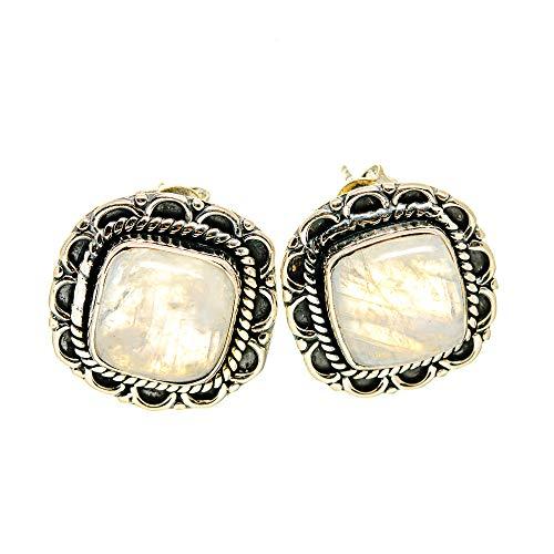 Ana Silver Co Rainbow Moonstone Earrings 3/4' (925 Sterling Silver)