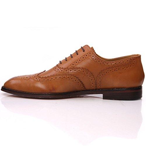 Unze Mens 'Florman' Leather Laced-up Dress Shoes – IMP-M6AL