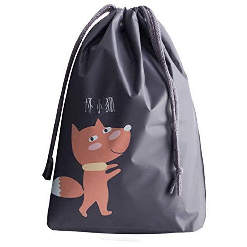 KAIYAN Bolsa de almacenamiento con cordón para lavandería, bolsa de viaje, impermeable, portátil, cómoda, de dibujos animados, PEVA, para la escuela, para la organización del hogar