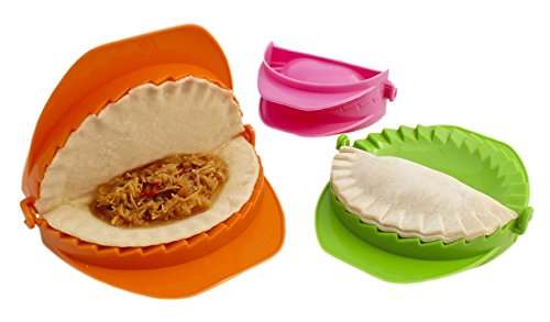 Zoie  Chloe 3Piece Dough Press Set: Perfect for Dumpling Calzone Ravioli Empanada Turnover amp Pierogi