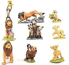 Shuihua 9pieces El Rey león Simba Pumba Timón PVC Modelo Figura Juguetes