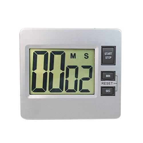 LOVIVER Reloj de Pared Digital Alarma Segundos Minutos Cuenta Atrás LCD Reloj de Escritorio Grande Temporizador