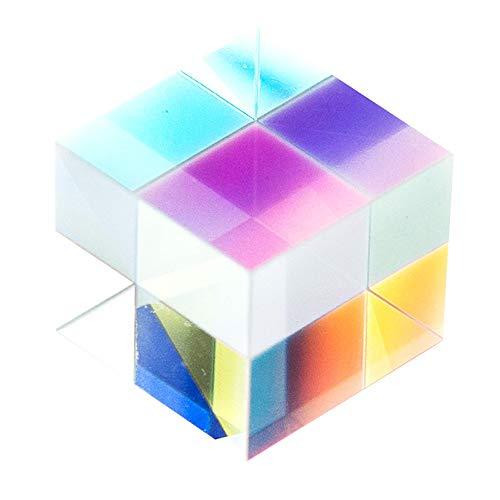 Bogoro Prisma Transparente, Cubo Prisma, Prisma Enseñanza de Prisma, Prisma de Cubo, Vidrio óptico Prisma, Cubo del Prisma Cristal, para Enseñar Espectro de Luz Física de Fotografía