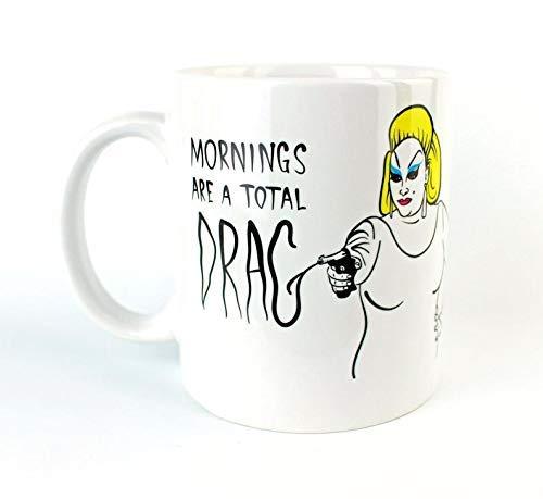 N\A Las mañanas Son un Arrastre Total - Taza de café - Divine