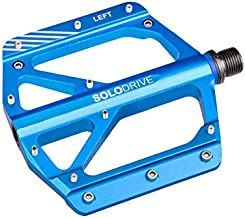 SOLODRIVE Mountain Bike Flat Pedals, Low-Profile Aluminium Alloy Bicycle Pedals, 9/16