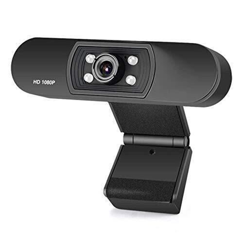 Wdonddonsxt webcam Full HD 1080p cámara, la cámara de escritorio del ordenador portátil del USB, mini plug and play videollamadas cámara del ordenador, micrófono integrado, video chat, seminarios web,
