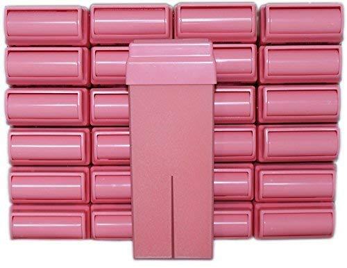 Epilwax Set da 24 rosa Rulli Cera per Depilazione - Larghezza 100 ml Roll-on Ricarica Cera