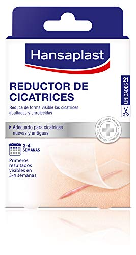 Hansaplast Cerotti Riduzione delle Cicatrici, trasparenti, 1 Confezione da 21 Pezzi