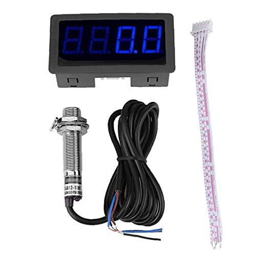 [Necesidades] 4 Medidor de velocidad de RPM de plástico de plástico de plástico de LED digital con sensor de interruptor NPN