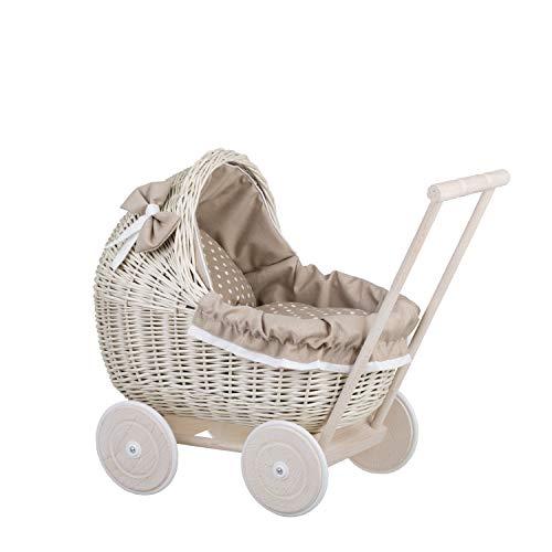 EIN Wagen, EIN Bett für Puppen aus Weide, Spielzeug aus Weide, Puppenwagen aus Weide, Korbpuppenwagen, Weidenwagen
