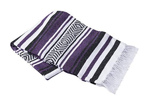 Nu-Source 54' x 80' Purple Mexican Yoga Blanket - Yoga...