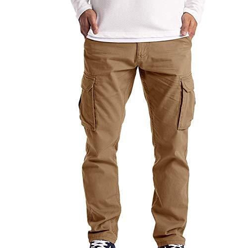 HFStorry Herren Cargohose Arbeitskleidung Combat Safety Cargo 6 Pocket Full Pants Männer Frachthose Trouser mit Reißverschluss Einfarbig Freizeithose Trekkinghose Outdoorhose Wanderhose