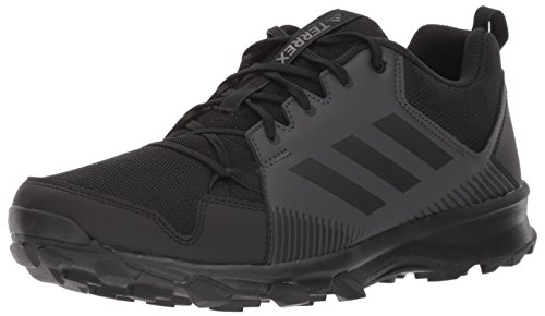 adidas Men's Terrex Tracerocker Trail Running Shoe, Black/Black/Utility Black, 10 D US