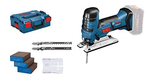 Bosch Professional Akku Stichsäge GST 18 V-LI S (kompatibel mit Bosch Click und Clean System, inkl. 3x Sägeblätter + 3x Schwämme, ohne Akkus und Ladegerät, in L-BOXX 136) - Amazon Edition
