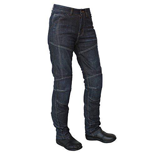 Roleff Racewear Motorradhose Kevlar Jeans für Damen, Blau, Größe 26