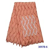 African Fabric Guipure Cord-Spitze-Gewebe Nigerian