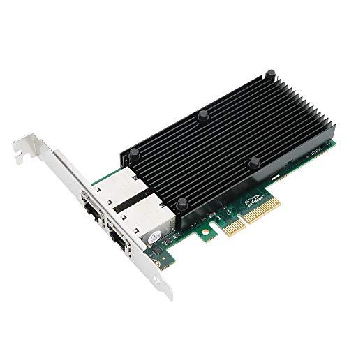 Tarjeta de Red PCI-E X8 Gigabit, Tarjeta de Red de Servidor Fast...