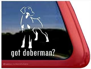 Got Doberman? ~ Doberman Pinscher Vinyl Window Auto Decal Sticker