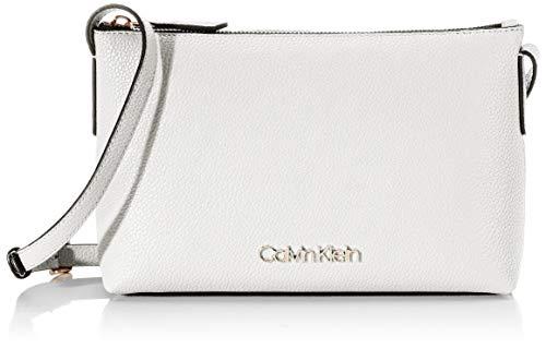 Calvin Klein - Neat Crossbody, Bolsos bandolera Mujer, Blanco (White), 1x1x1 cm (W x H L)